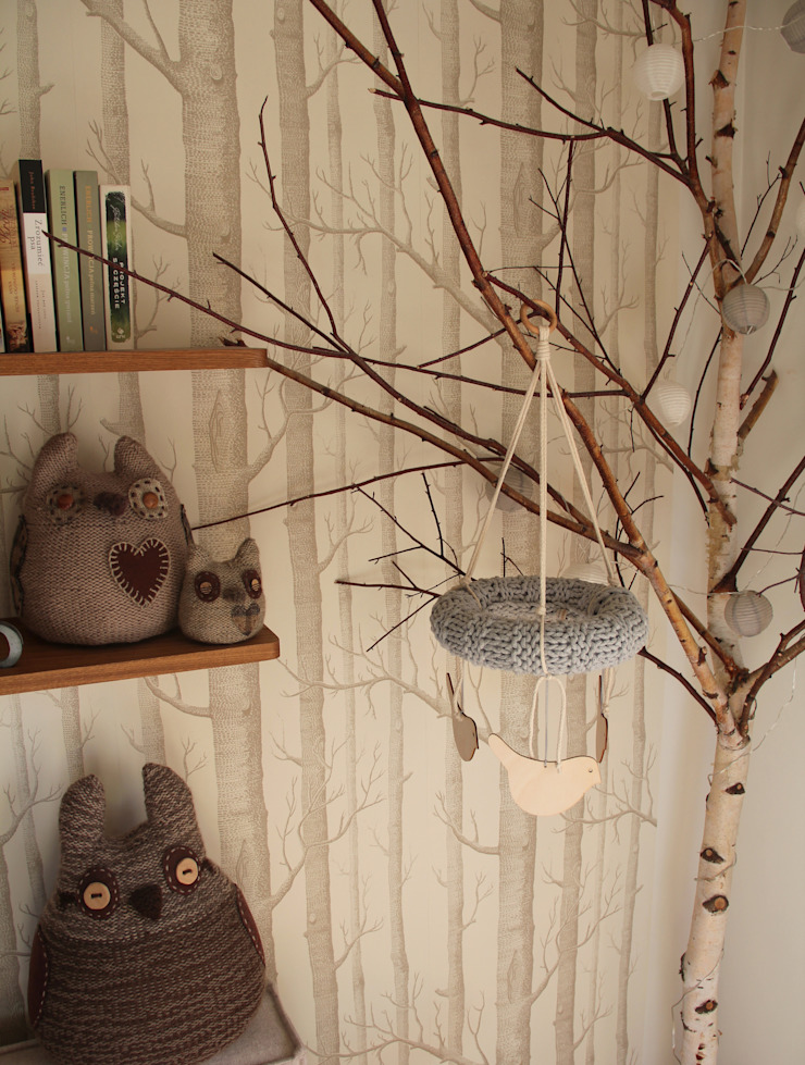 Karuzela ze sznurka bawełnianego od Manufaktura pracownia artystyczna Skandynawski