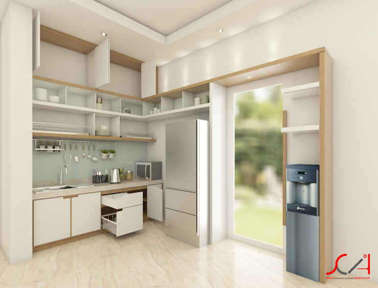 SCIArchitecture Kitchen units Plywood White