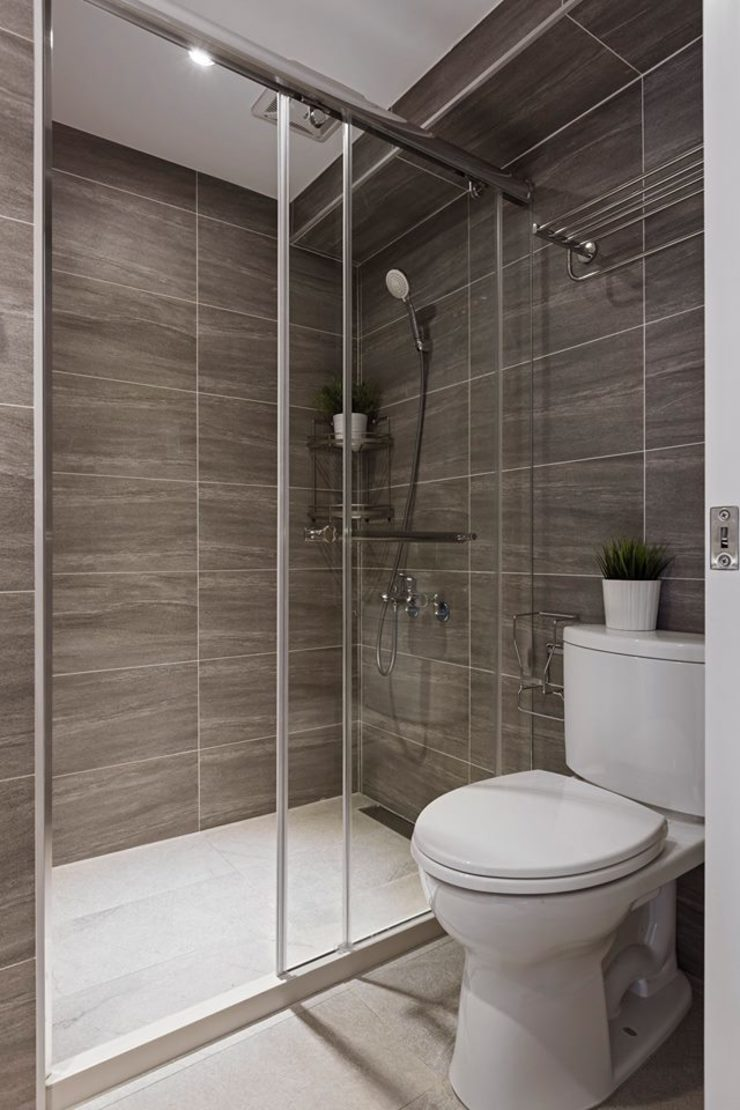 樸.淨 現代浴室設計點子、靈感&圖片 根據 築川設計 現代風