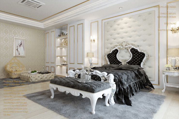 European style bedroom Modern style bedroom by Enrich Artlife & Interior Design Sdn Bhd Modern