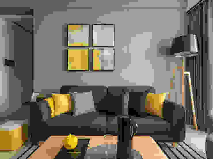 沙發背牆: 現代  by 存果空間設計有限公司, 現代風