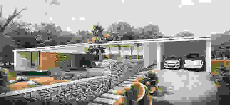 Casa Garcia de ARQUITECTOS URBANISTAS A+U Moderno Ladrillos