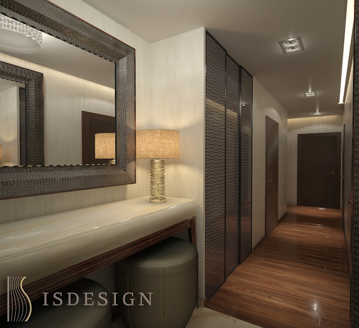 ISDesign group s.r.o. Eclectic style corridor, hallway & stairs Marble Grey