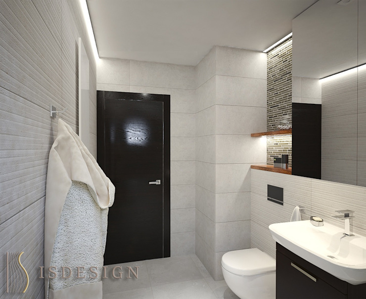 ISDesign group s.r.o. Eclectic style bathroom Tiles