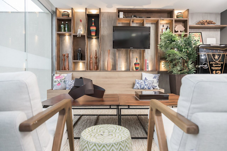Modern Living Room by MORSCH WILKINSON arquitetura Modern Concrete