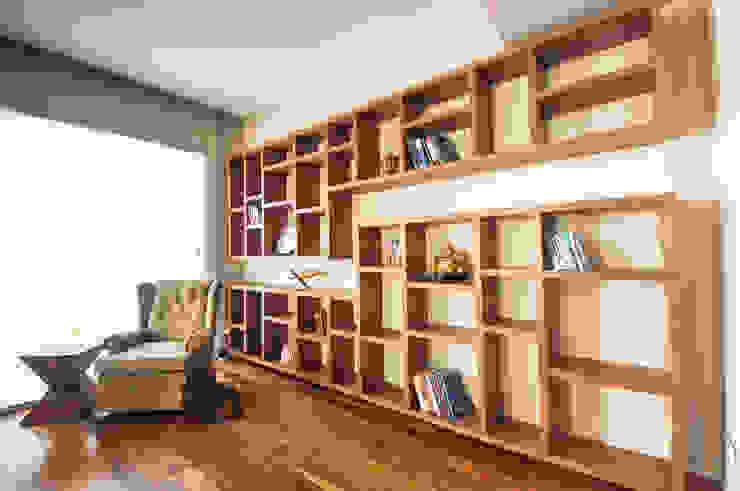 Wall Library:  مكاتب العمل والدراسة تنفيذ Mazura