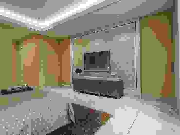 臥室1電視牆 根據 木皆空間設計