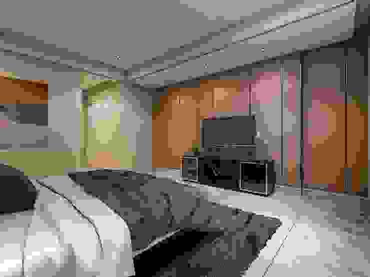 臥室3電視牆 根據 木皆空間設計