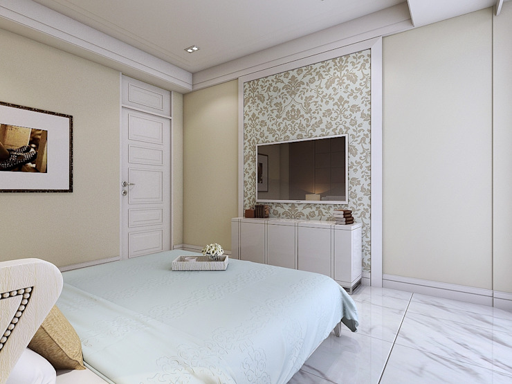 臥室5電視牆 根據 木皆空間設計
