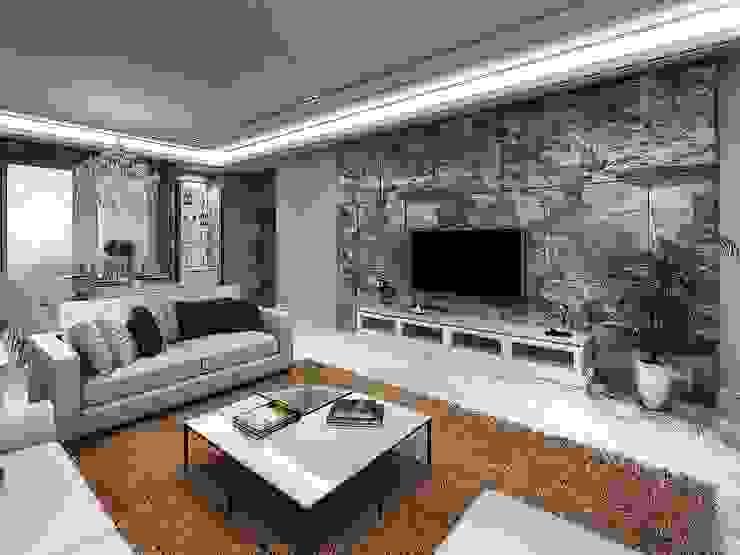客廳電視牆 根據 木皆空間設計