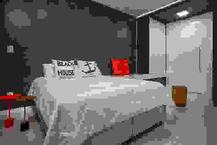 studio vert arquitetura Minimalist bedroom