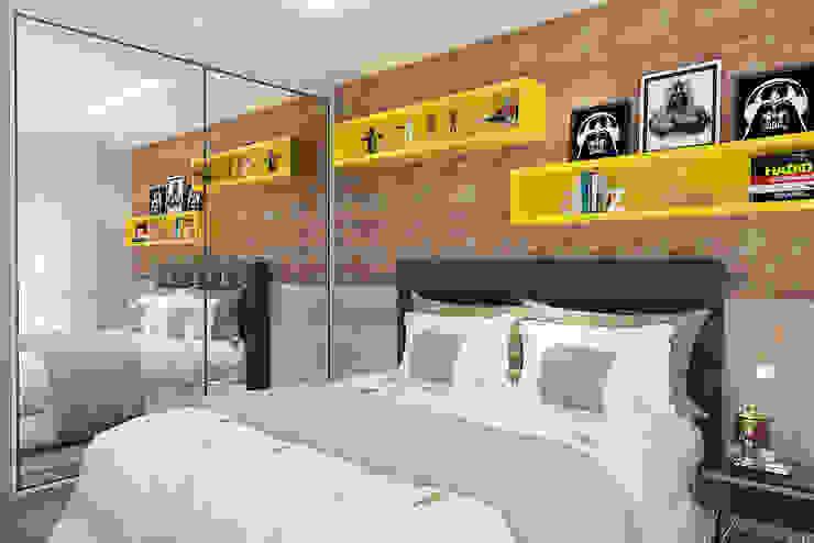 Quarto menino Quartos modernos por Leticia De Col Arquitetura e Interiores Moderno