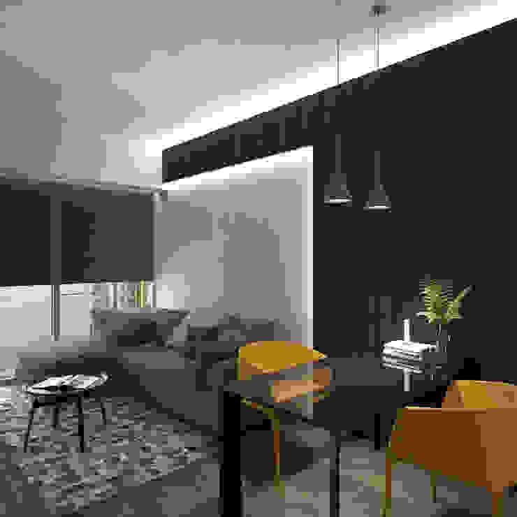 Cadogan | Kennedy Town | Hong Kong Modern living room by Nelson W Design Modern