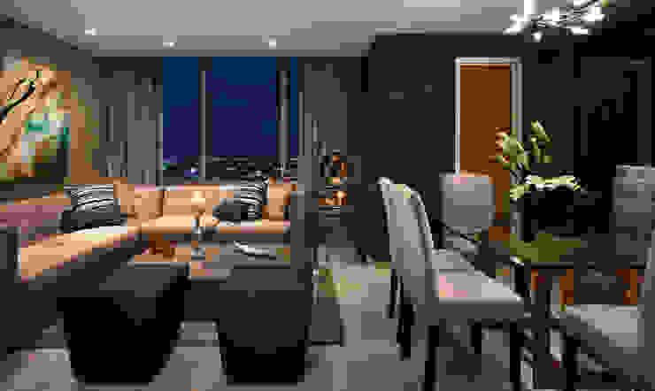 غرفة المعيشة تنفيذ Enrique Serrano  |  Fotógrafo de Arquitectura e Interiores , حداثي