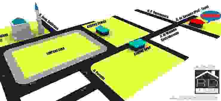 Peta lokasi ruko 2 lantai Kantor & Toko Minimalis Oleh Rumah Desain 2000 Minimalis Beton Bertulang