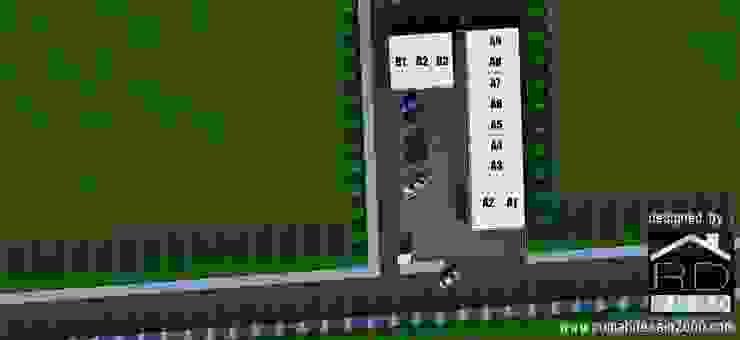 Site plan ruko minimalis 2 lantai Kantor & Toko Minimalis Oleh Rumah Desain 2000 Minimalis Beton Bertulang