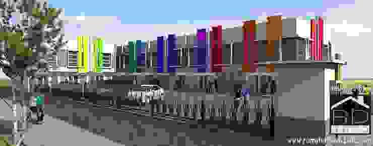 Tampak perspektif ruko minimalis 2 lantai Kantor & Toko Minimalis Oleh Rumah Desain 2000 Minimalis Beton Bertulang
