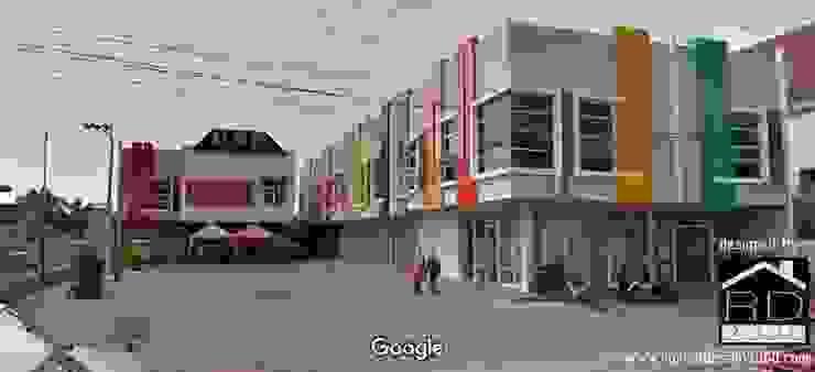 Hasil pekerjaan ruko minimalis 2 lantai:  Kantor & toko by Rumah Desain 2000