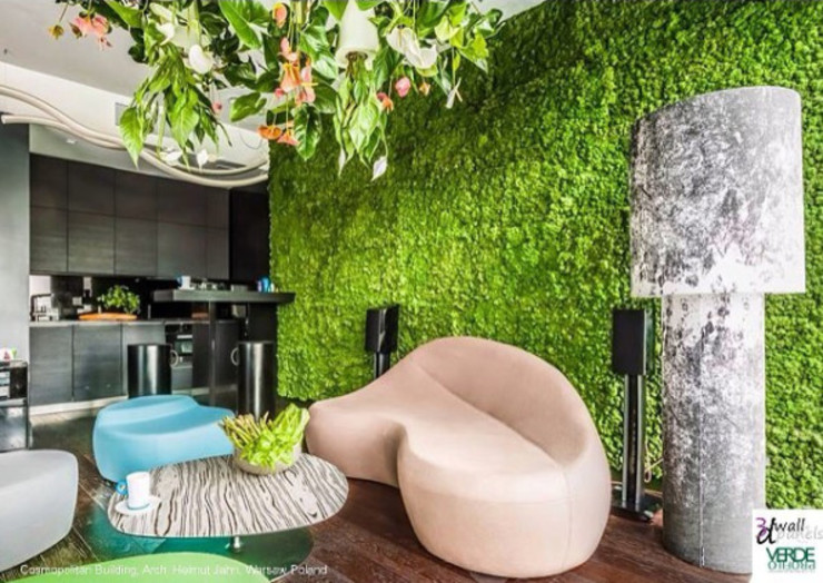 现代客厅設計點子、靈感 & 圖片 根據 mossconcept 現代風
