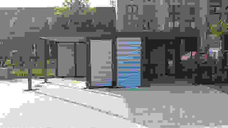 Carport-Schmiede GmbH & Co. KG - Hersteller für Metallcarports und Stahlcarports auf Maß Garajes y galpones Hierro/Acero Gris