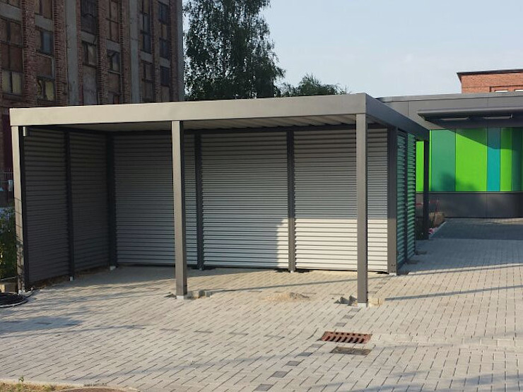 modern  by Carport-Schmiede GmbH & Co. KG - Hersteller für Metallcarports und Stahlcarports auf Maß, Modern Iron/Steel