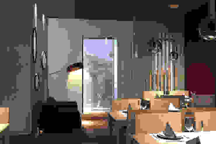 Restaurante . Lisboa . Reabilitação . Remodelação . Lapa Espaços de restauração modernos por aponto Moderno Madeira Acabamento em madeira