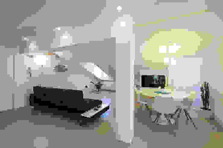Mansarda OC2 Laboratorio di Progettazione Claudio Criscione Design Sala da pranzoSedie & Panche