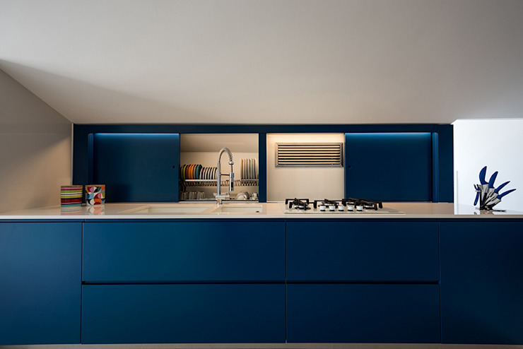 Mansarda OC2 Laboratorio di Progettazione Claudio Criscione Design CucinaPiani di lavoro