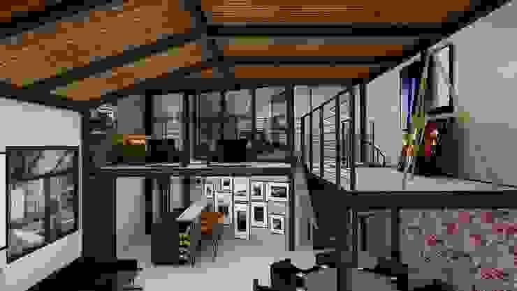 Interiorismo Loft Condesa Oficinas y bibliotecas de estilo moderno de homify Moderno