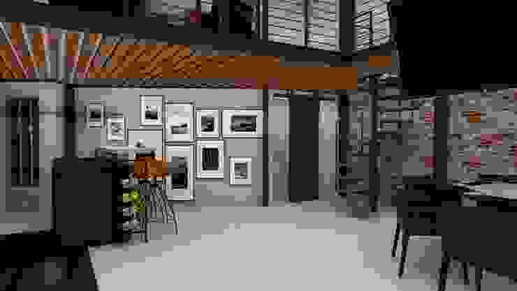 Interiorismo Loft Condesa Estudios y despachos modernos de homify Moderno