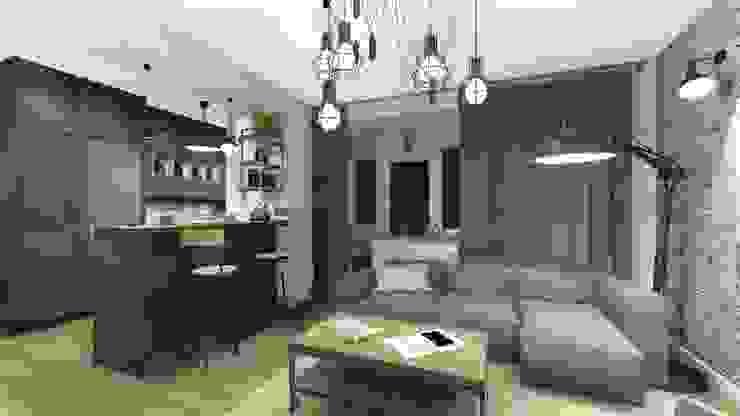 Industrial style living room by KOKON zespół architektoniczny Industrial
