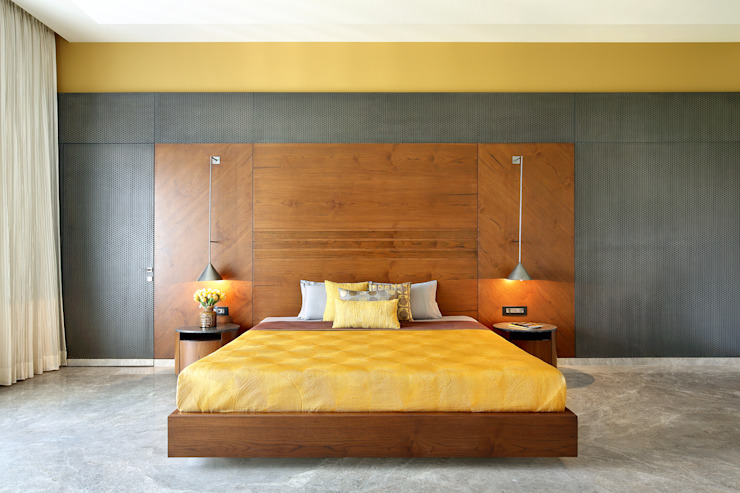 kabir bungalow Modern style bedroom by USINE STUDIO Modern