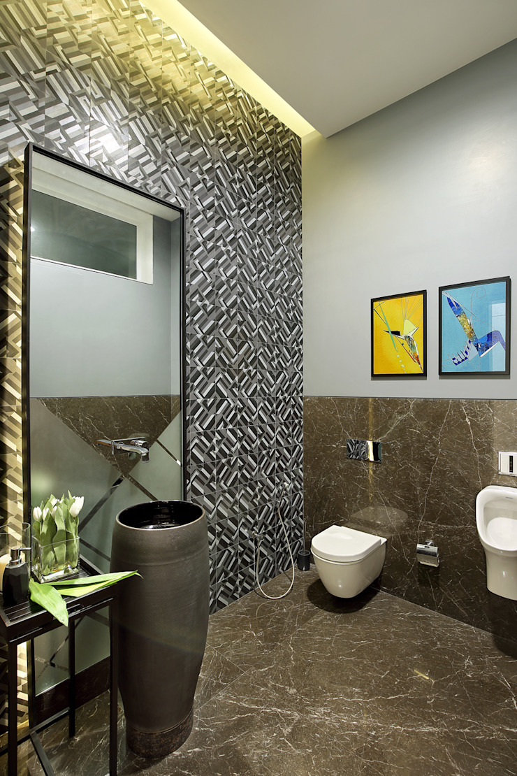 kabir bungalow Modern bathroom by USINE STUDIO Modern