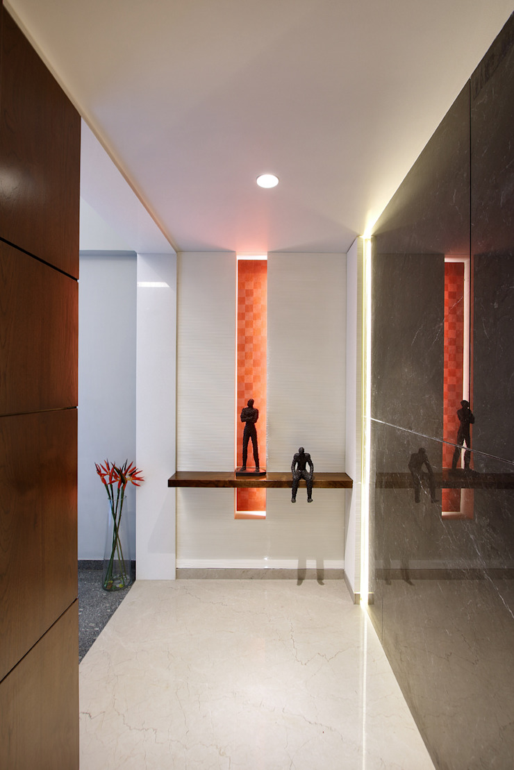 Modern Corridor, Hallway and Staircase by USINE STUDIO Modern