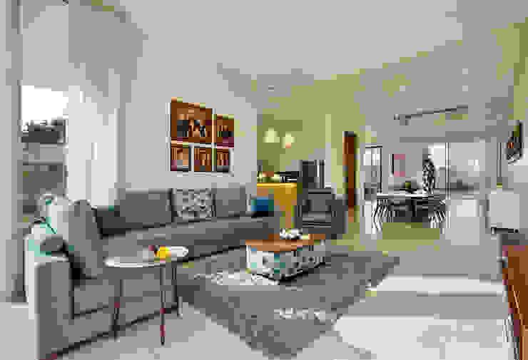 akshay shah (samruddhi bungalow) Classic style living room by USINE STUDIO Classic