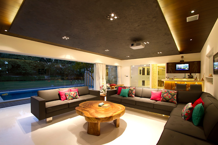 patel house (outhouse) Modern living room by USINE STUDIO Modern