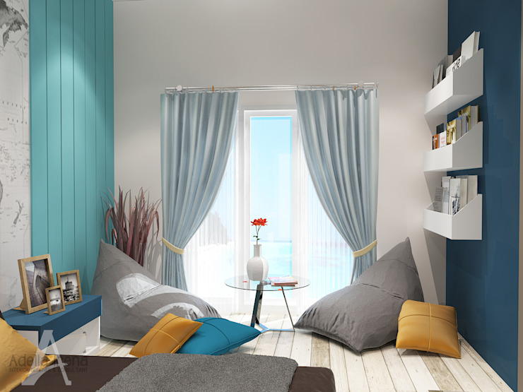"<q class=""-first"">BEACH</q> concept for kids bedroom Kamar Tidur Gaya Country Oleh PEKA INTERIOR Country Kayu Buatan Transparent"