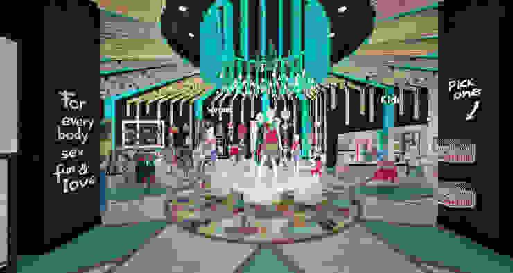 Ingreso tienda - Display principal de Priscila Meza Marrero Ecléctico Madera Acabado en madera