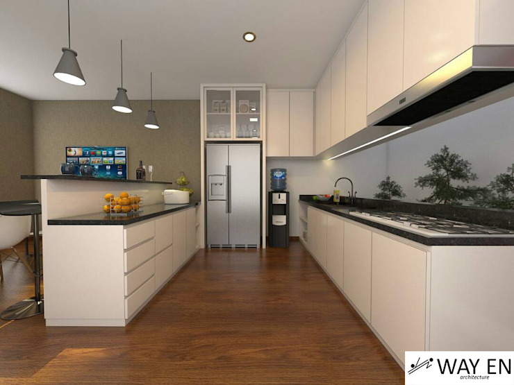 Kitchen Set Oleh Way En Architecture Minimalis Kayu Lapis