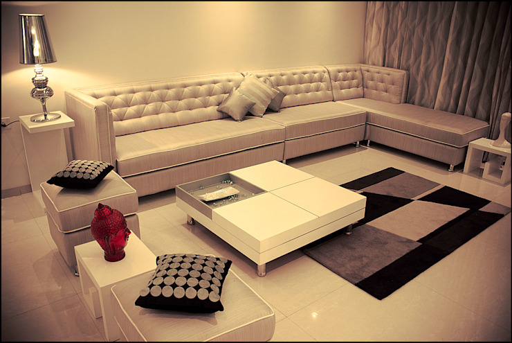 La tierra,Pune Modern living room by H interior Design Modern