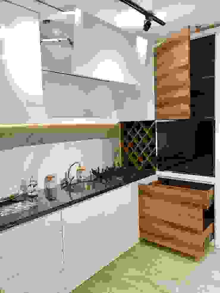 showroom Oleh renne design Minimalis Kayu Wood effect