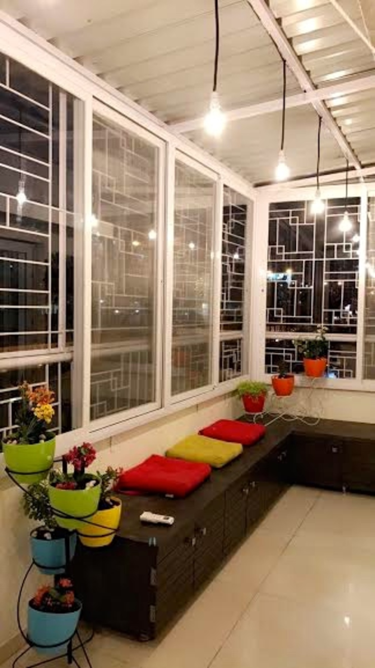 Mystic Moods,Pune Modern balcony, veranda & terrace by H interior Design Modern