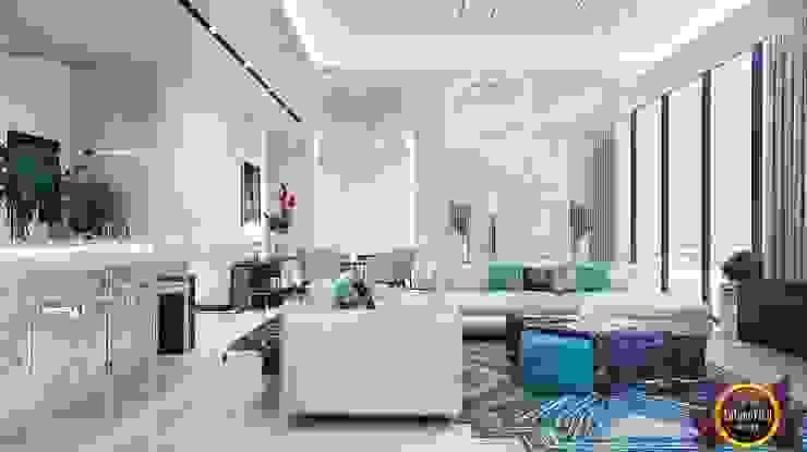 Luxury and comfort from Katrina Antonovich Modern living room by Luxury Antonovich Design Modern