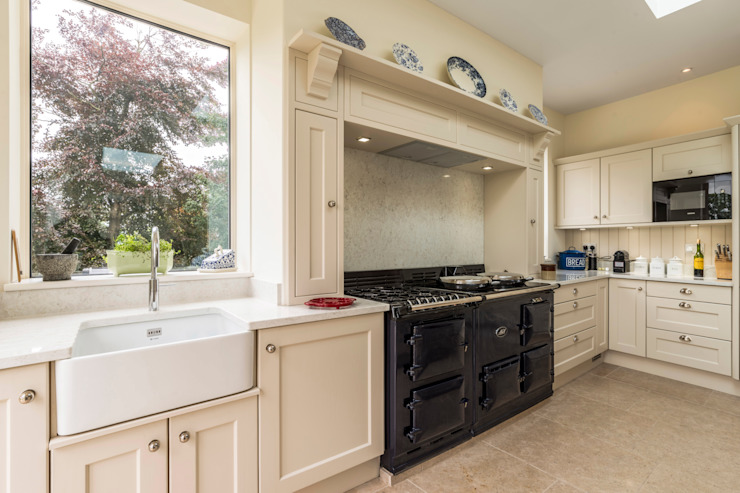Aga cooker and surround by John Gauld Photography Modern