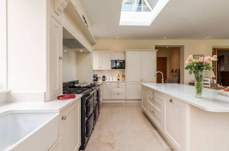 View of kitchen and island by John Gauld Photography Modern