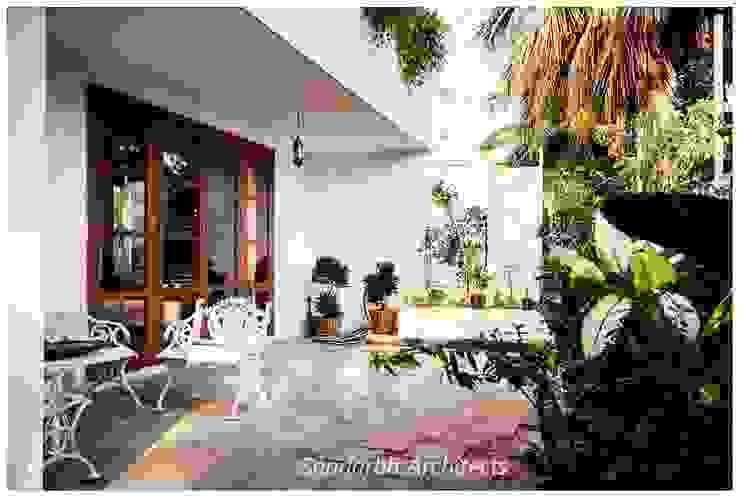 Rahaman's residence Eclectic style balcony, veranda & terrace by Sandarbh Design Studio Eclectic