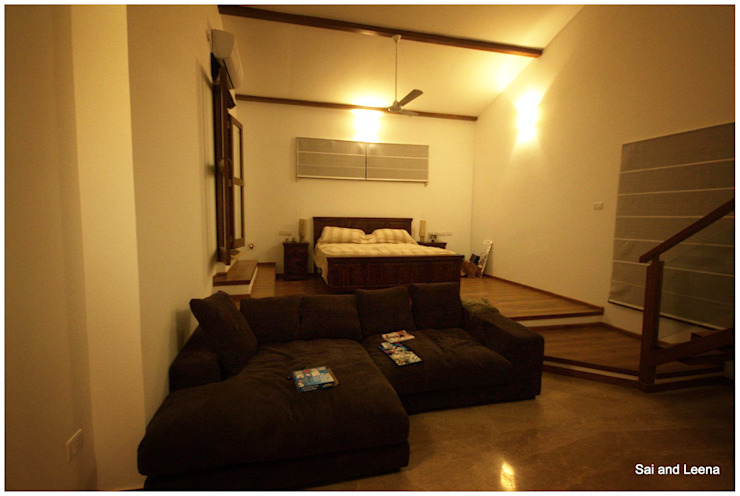 Kannan - Sonali and Gaurav's residence Eclectic style bedroom by Sandarbh Design Studio Eclectic
