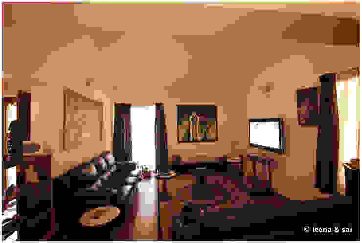 Captain Vijendra - Renovation Eclectic style media room by Sandarbh Design Studio Eclectic