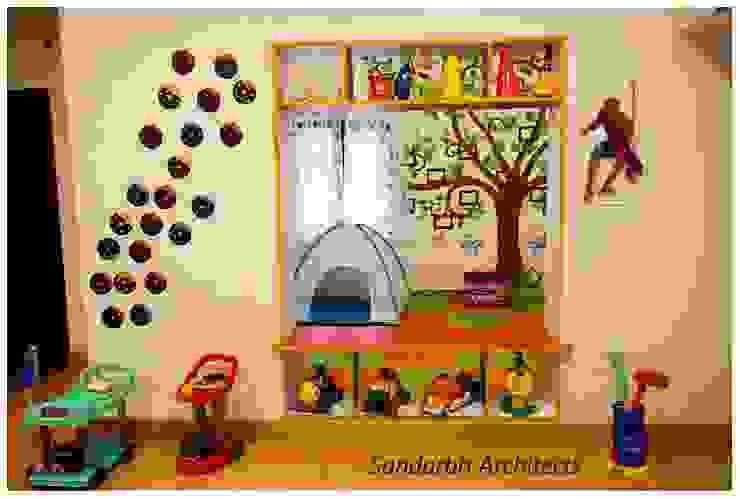 Wacky house:  Schools by Sandarbh Design Studio,