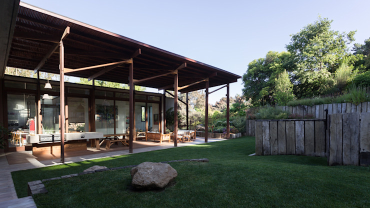 Casa Terraza Jardines de estilo moderno de Dx Arquitectos Moderno